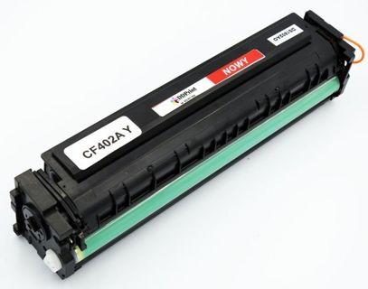 CF402A HP Yellow, Nowy zamiennik do HP Color LaserJet Pro M252 / M277 / M227 / 1400 stron / Żółty
